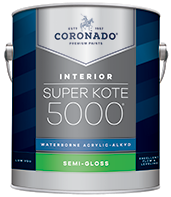 Harrison Paint Supply Super Kote 5000® Waterborne Acrylic-Alkyd is the ideal choice for interior doors, trim, cabinets and walls. It delivers the desired flow and leveling characteristics of conventional alkyd paints while also providing a tough satin or semi-gloss finish that stands up to repeated washing and cleans up easily with soap and water.boom