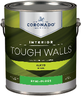 Harrison Paint Supply Tough Walls Alkyd Semi-Gloss forms a hard, durable finish that is ideal for trim, kitchens, bathrooms, and other high-traffic areas that require frequent washing.boom