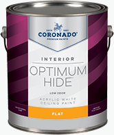 Harrison Paint Supply Optimum Hide Ceiling White is a quick-drying flat finish designed for interior ceilings. It is ideal for areas that must remain in service while being painted, such as hotels, offices, hospitals, and nursing homes. It dries a bright white and minimizes surface imperfections.boom