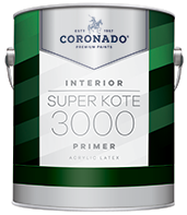 Harrison Paint Supply Super Kote 3000 Primer is an easy-to-apply primer optimized for high productivity jobs. Super Kote 3000 is ideal for use in rental properties. This high-hiding, fast-drying primer provides a strong foundation for interior drywall and cured plaster and can be topcoated with latex or oil-based paint.boom